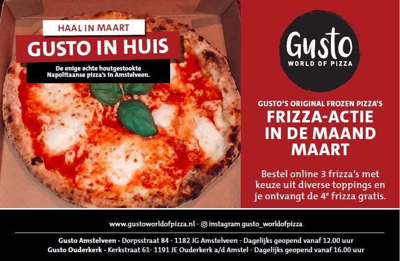 Gusto Frizza: zelf thuis opwarmen, 4 voor de prijs van 3