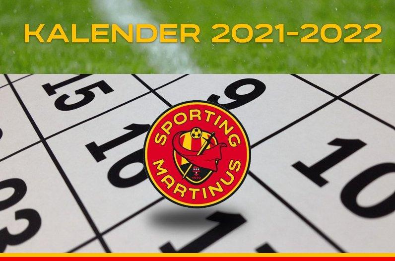 Wedstrijdkalender / Speeldagenkalender 2021 - 2022